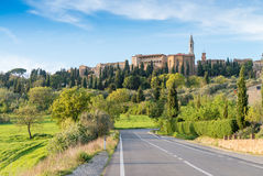 Hills of Tuscany. Beautiful spring time in Italy Royalty Free Stock Photos
