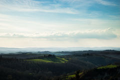 Hills of Tuscany, Italy Royalty Free Stock Photos