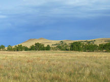 The hills in the Tuva steppe Royalty Free Stock Image