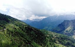 Amazing weather in Manali. Hills and valleys Stock Image