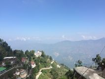 Hill view Mussorie Royalty Free Stock Image