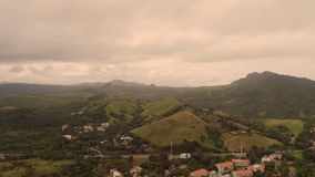 Hills with a village view from above.  Royalty Free Stock Photo
