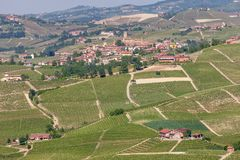 Hills and vineyards of Piedmont, Italy royalty free stock photos