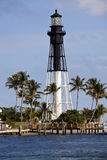 Hillsboro Inlet Lighthouse in Pompano Beach Stock Photo