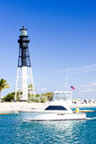 Hillsboro Lighthouse. Pompano Beach, Florida, USA Stock Image