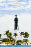 Hillsboro Lighthouse. Pompano Beach, Florida, USA royalty free stock photo