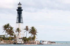 Hillsboro lighthouse in Pompano Royalty Free Stock Image