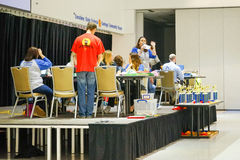 Hillsborough county 5th Grade Math Bowl competition: award announcement Stock Image