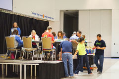 Hillsborough county 5th Grade Math Bowl competition: Judge Royalty Free Stock Photos