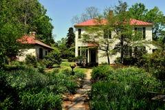 Hillsborough, NC: 1821 Burwell School and Gardens Stock Image