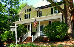 Hillsborough NC: William Whitted House 1786 Arkivbild