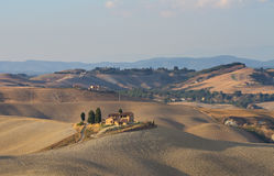 Hillscape of Crete Senesi Royalty Free Stock Photos
