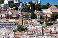 Hillside à Lisbonne Photographie stock