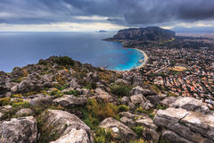 Hillside around Palermo on the sea, Sicily, Ital Royalty Free Stock Image