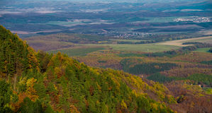Hillside at autumn. Clours in Hungary Royalty Free Stock Photography