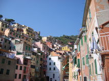 Hillside buildings Italy Stock Images