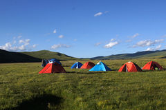 Hillside camping @ west of Sichuan,China Stock Photography