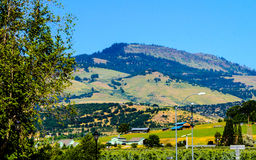 Hillside contro un cielo blu fotografie stock