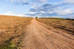 Hillside Dirt Road Landscape Stock Images