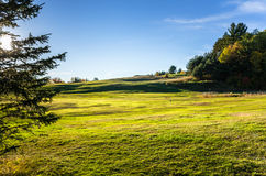 Hillside Golf Course at Sunset Royalty Free Stock Images