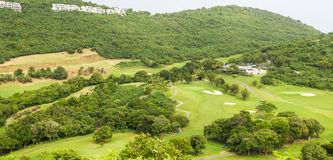Hillside Golf Course in Tropics Stock Image