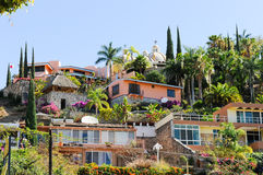 Hillside homes, Ajijic, Jalisco, Mexico Royalty Free Stock Photos