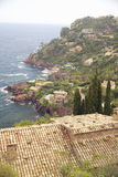 Hillside homes along French Riviera, France Royalty Free Stock Photography