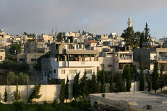 Hillside Homes In Bethlehem Stock Photo