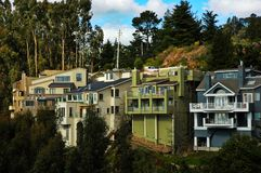Hillside Homes in California. Homes on a hillside in Northern California Royalty Free Stock Photography