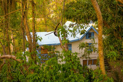 A hillside house in the caribbean Stock Images