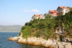 Hillside Houses. Beautiful Amasra Houses at Bartin, Turkey Royalty Free Stock Photo