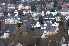 Hillside houses in German town Stock Photography