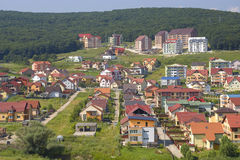 Hillside housing estate Stock Image
