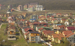 Hillside housing estate. Royalty Free Stock Photos