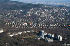 Hillside housing estate in Budapest Royalty Free Stock Photos
