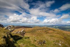 Hillside in Ireland. A panoramic view of a hillside in Ireland Stock Images