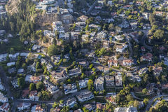 Hillside Los Angeles Homes Stock Image