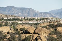 Hillside Los Angeles Homes Stock Images