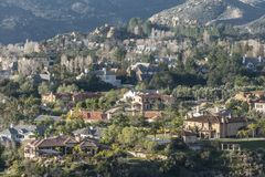 Hillside Mansions Royalty Free Stock Photography