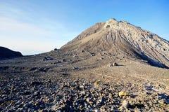 Hillside of Merapi volcano at sunrise. Central Java, Indonesia stock photography