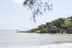 Hillside par la mer image libre de droits
