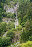 Hillside power pole Royalty Free Stock Photos