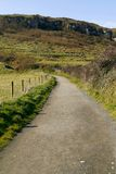 Hillside road in Antrim, Northern Ireland Stock Photo
