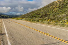 Hillside Road in Southern California Royalty Free Stock Image