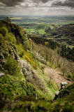 Hillside. Spring time view from a hill, lansdcape Royalty Free Stock Images