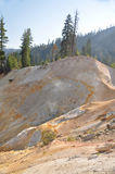 A Hillside at Sulfur Works Lassen Park Stock Images