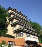 Hillside terraced architecture Stock Image