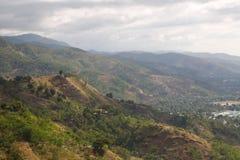 Hillside terrain view Timor Leste. A view of hillside terrain around Dili Timor Leste stock images