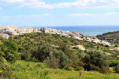 Hillside town of Albufeira, Algarve, Portugal Royalty Free Stock Photography