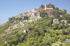 The hillside town of Eze, French Riviera, France Royalty Free Stock Images